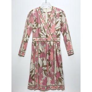 EMILIO PUCCI Vintage Size 8 Pink Print Long Sleeve
